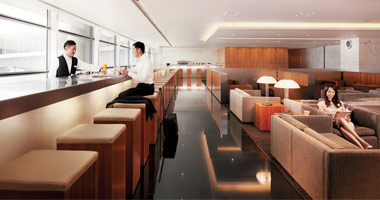 Cathay Pacific lounge