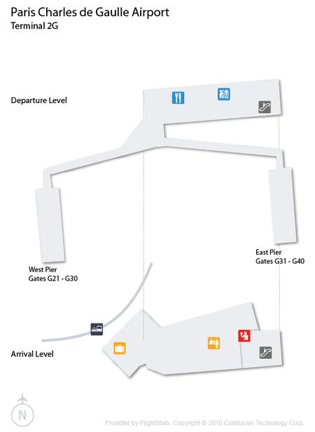 Paris-Charles de Gaulle Airport Terminal 2G