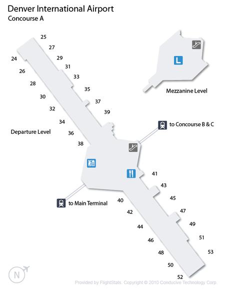 Denver International Airport Concourse A