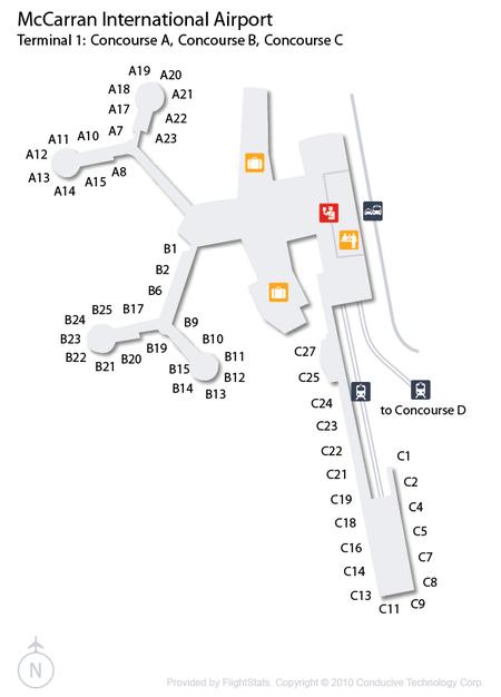 McCarran International Airport Terminal 1 Concourse A, B and C