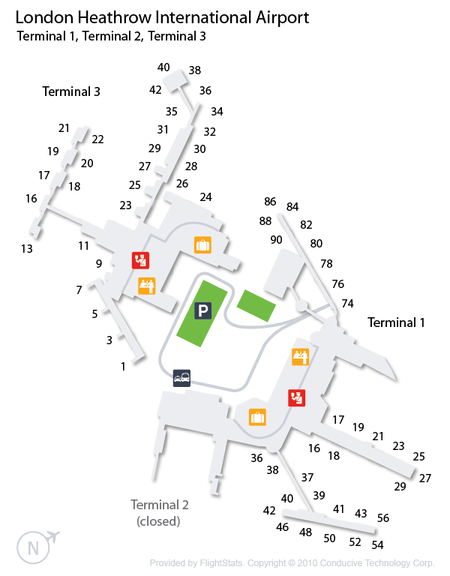 London Heathrow Terminals 1, 2 and 3