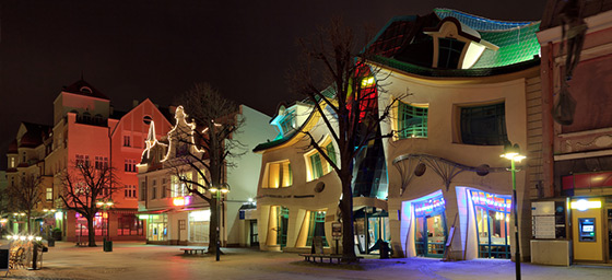 The Krzywy Domek (Crooked House) in Poland