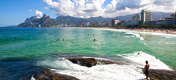 Rio de Janeiro's famous beach strip