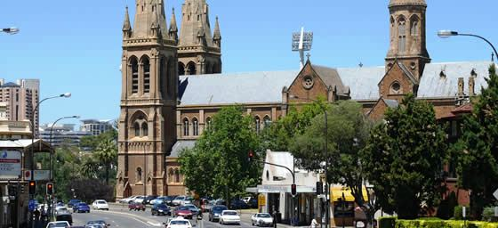 Fly to Adelaide and see St Peter's Cathedral