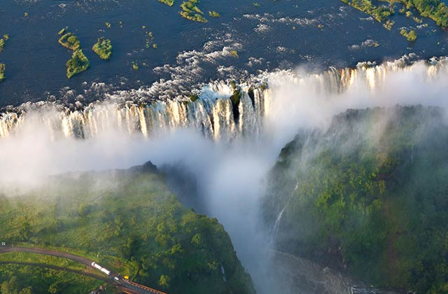 Victoria Falls, border of Zambia and Zimbabwe