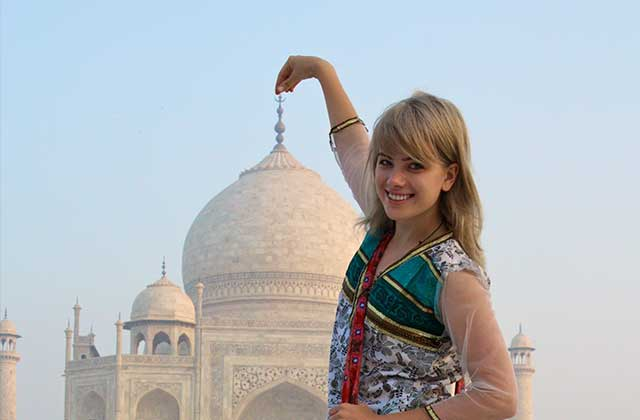 Touching the Tip of the Taj Mahal, Agra, India | by Flight Centre's Alina McLeod