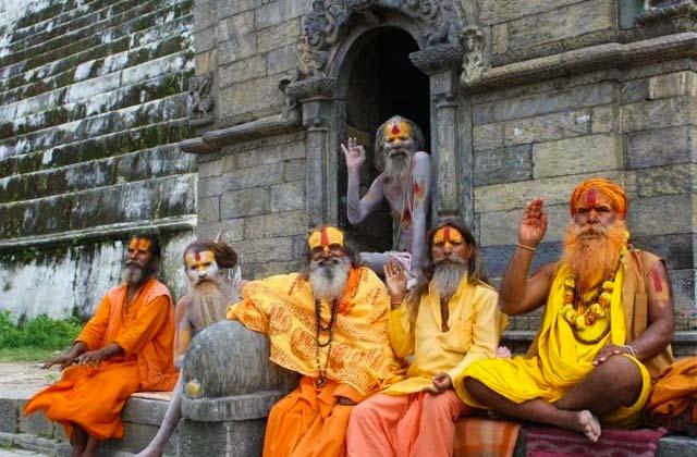 Hindu Priests, Kathmandu, Nepal