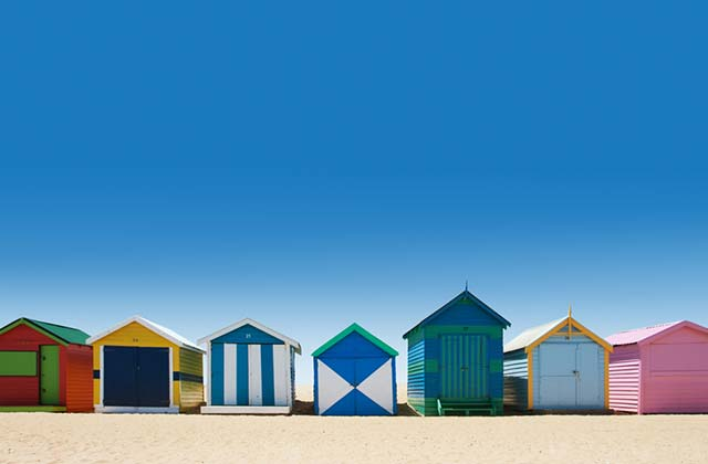 Colourful Changerooms, Brighton Beach, Victoria