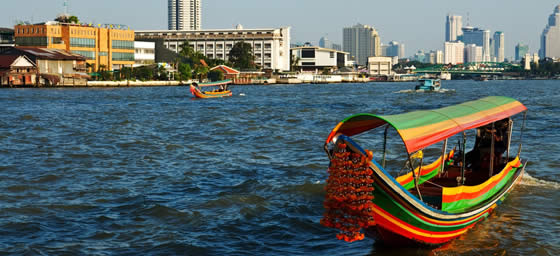 Flights to Bangkok: Chao Phraya River