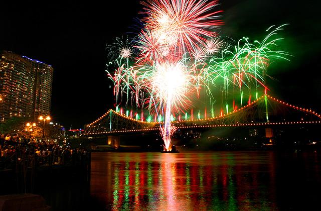 Riverfire on the Story Bridge