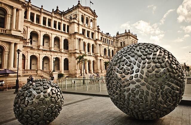 Modern Art outside the Treasury Casino