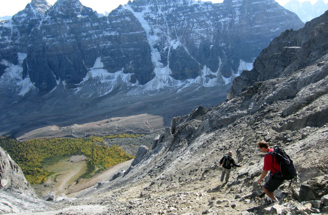 Trekking the Valley of Ten Peaks, Lake Louise | by Flight Centre's Janina Louie