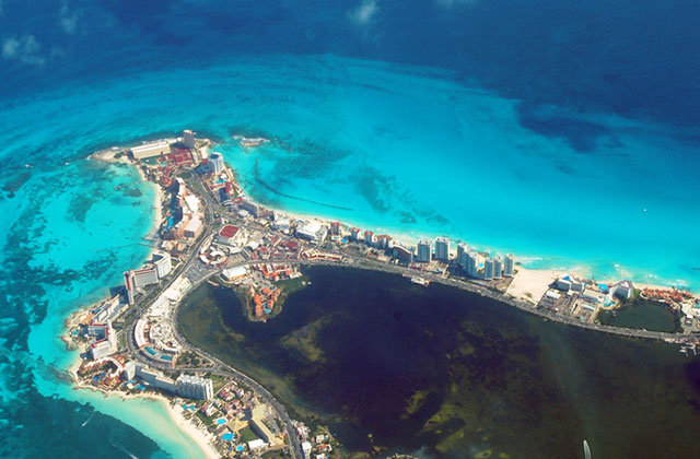 Aerial View, Cancun