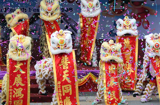 Lion Dance, New Year Festivities