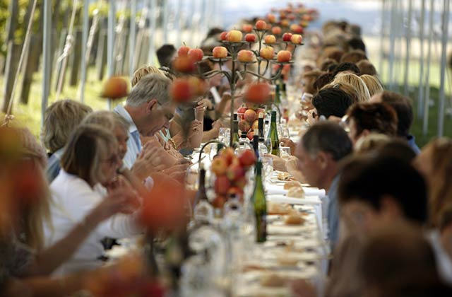 Dine at the longest lunch table in Daylesford and Macedonia Ranges.