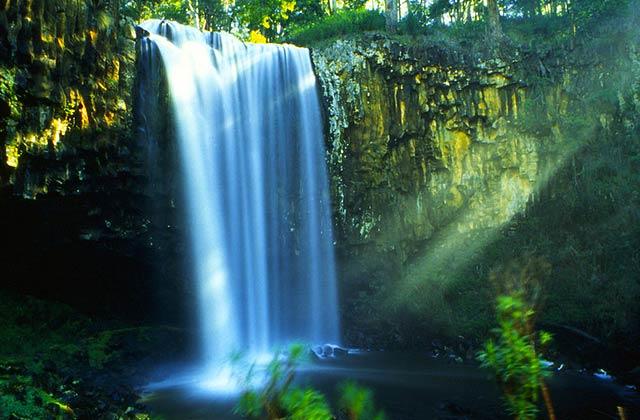 The beautiful Trentham Falls.