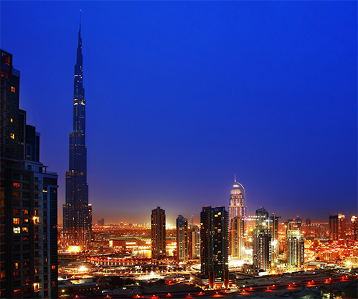 Skyline Featuring the Burj Khalifa
