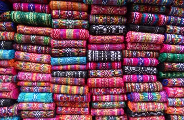 Fabric For Sale, Otavalo Markets | by Flight Centre's Miranda Griffith