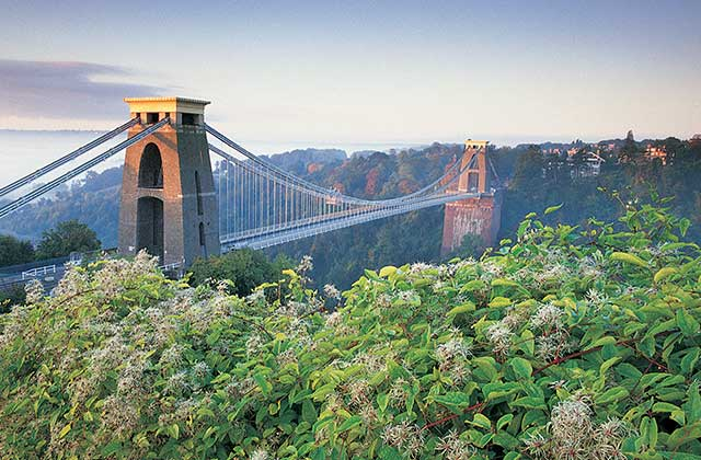 The Clifton Suspension Bridge, linking Clifton to Leigh Woods on the Avon Gorge and the River Avon
