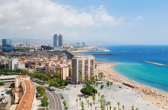 Coastline, Barcelona, Spain