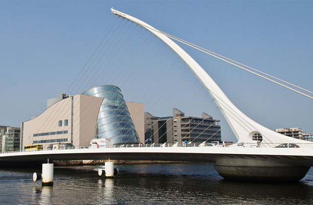 The Samuel Beckett Bridge, Dublin, Republic of Ireland