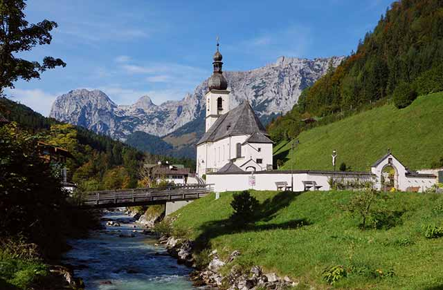 Ramsau Church, Bavarian Alps, Germany | by Flight Centre's Marree Duane