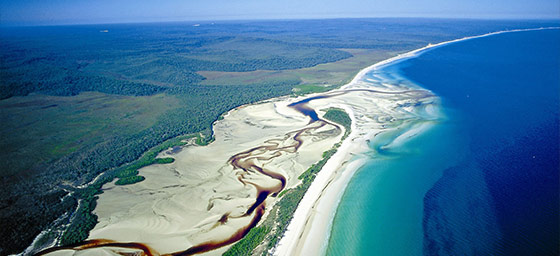 Fraser Island: Aerial View