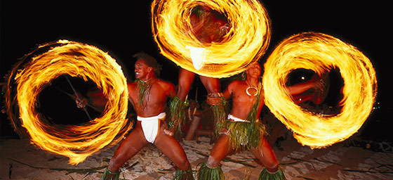 French Polynesia: Polynesian Fire Dancers