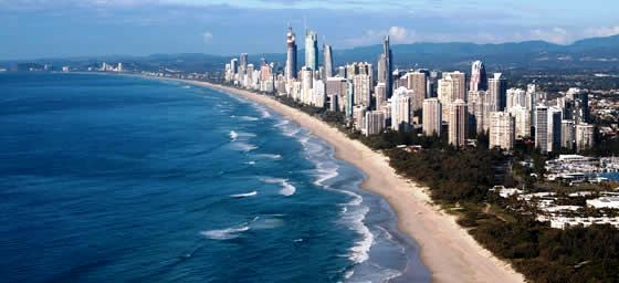 Flights to Gold Coast over the Golden Coastline