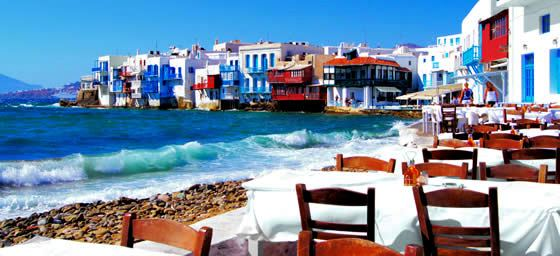 Greece: Seaside Cafe