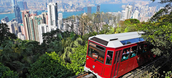 Hong Kong: City View from Peak Tram