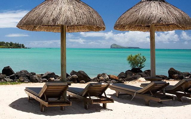 Sun lounges at LUX Grand Gaube Mauritius