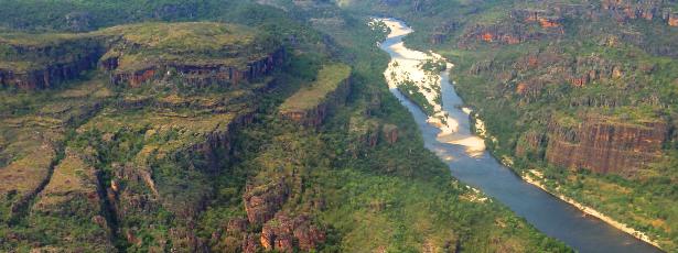 Aerial shot of Kakadu NP