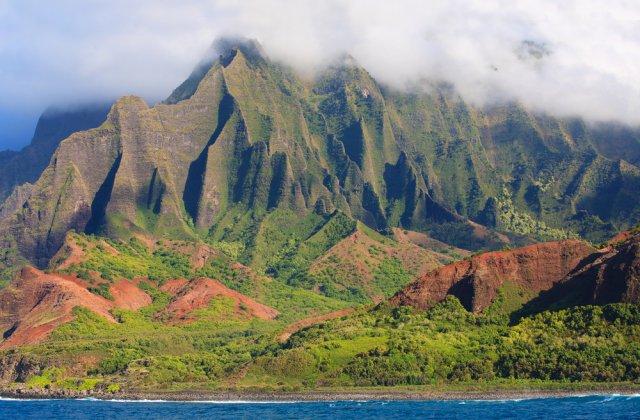The jagged edges of Kauai's Napali Coast.
