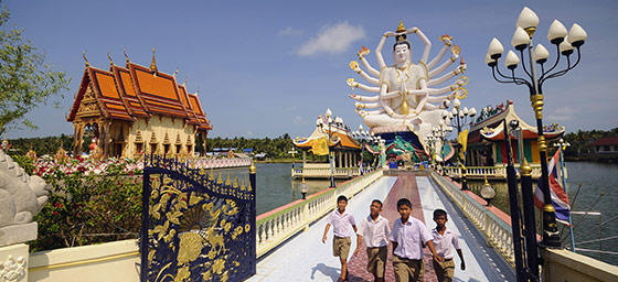 Koh Samui: Wat Plai Laem Temple