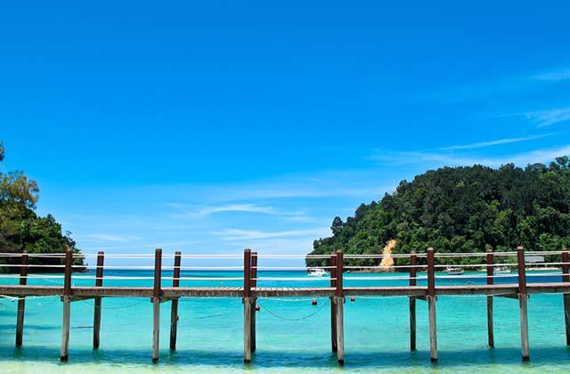 The beautiful waters of Kota Kinabalu