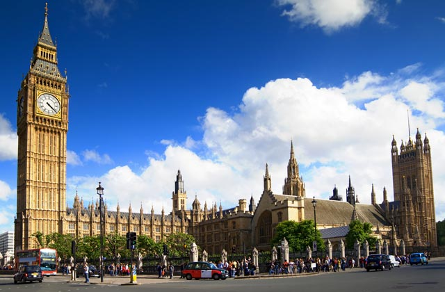 The Palace of Westminster, more commonly known as the Houses of Parliament