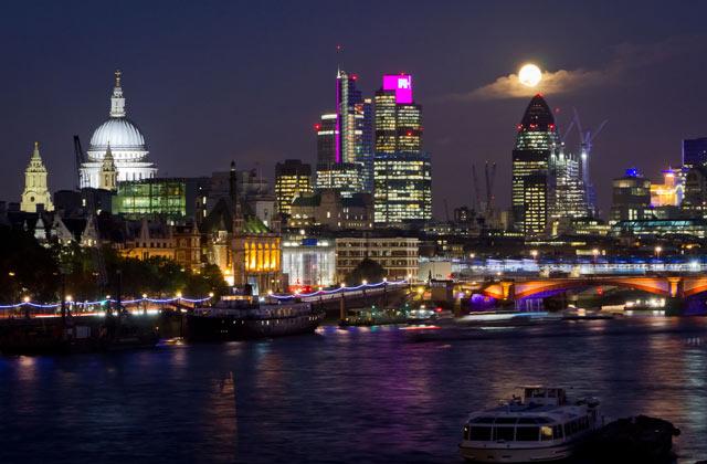 Full Moon over London   by Flight Centre's Olivia Mair