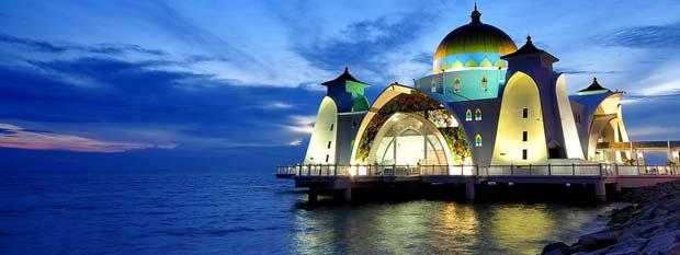 Malaysia Travel Visit Malacca Straits Mosque