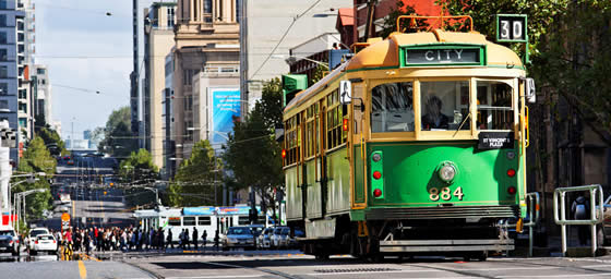 Fly to Melbourne and explore via tram