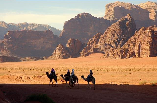 Camel Tour, Wadi Rum Desert, Jordan