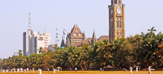 Mumbai: A cricket game near Rajabai Tower