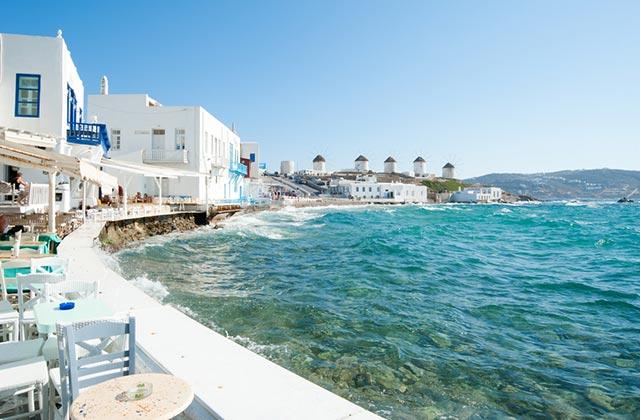 Restaurants along the coastline