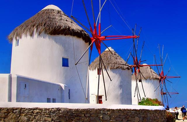 The iconic windmills