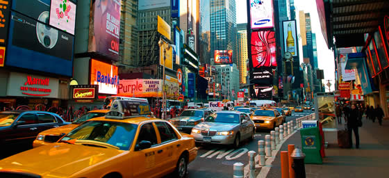 New York: The Bright Lights of Broadway Shine 24/7