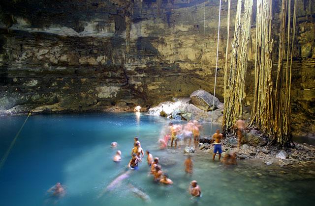 "Ik-kil ""Sacred Blue"" Cenote, Mexico"