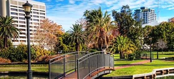 Fly to Perth and explore Queens Park