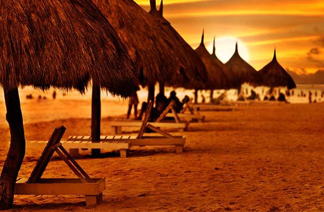 Sun Rising on the Beach