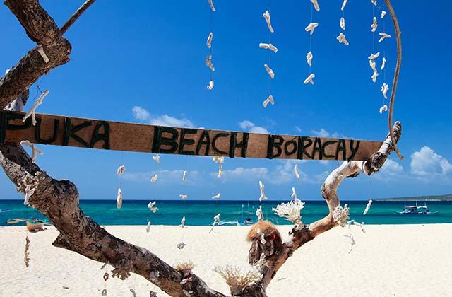 Puka Beach Sign, Boracay