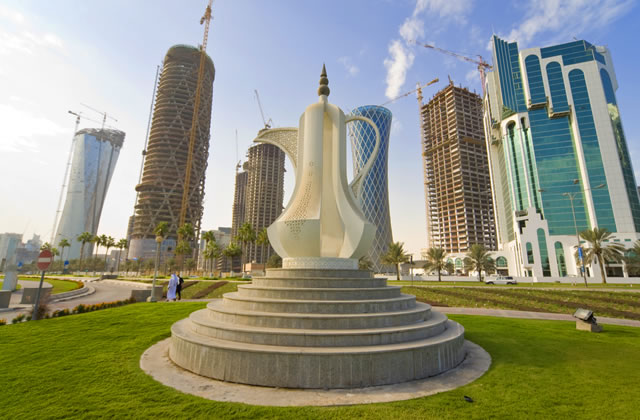 Giant Teapot Sculpture, Doha